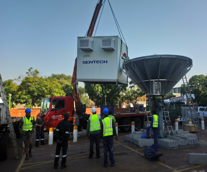 Sentech C Band Uplink Antenna for the Presidential Inauguration 2019